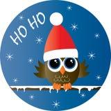 Feste felici di Buon Natale una civetta sveglia illustrazione vettoriale