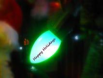 Feste felici sulla luce dell'albero Immagini Stock Libere da Diritti