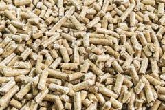 Feste hölzerne Kugeln für Ofennahaufnahme Gepresste Kugel gemacht vom Holz lizenzfreies stockbild