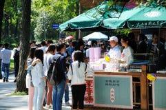 Feste nel punto scenico del mausoleo del Sun Yat-sen Fotografia Stock Libera da Diritti