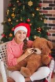 Feste, presente, natale, infanzia e Fotografia Stock