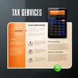 Feste Web-Schablone der Steuer Lizenzfreie Stockbilder