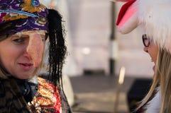 Festeggiamenti sul giorno di Natale in Homiel' Fotografie Stock