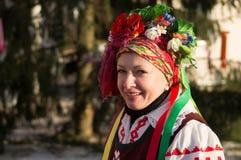 Festeggiamenti sul giorno di Natale in Homiel' Fotografie Stock Libere da Diritti