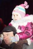 Festeggiamenti sul giorno di Natale in Homiel' Fotografia Stock Libera da Diritti