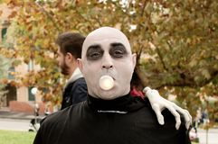 Fester Addams at Lucca Comics and Games 2017 Stock Images