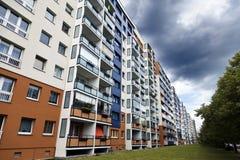 Bunter Ostberlin-Block Stockbild