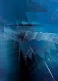 Festes Blau bedeckt mit Zeilen und Tönungen Stockbild