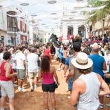 Festes de Gràcia, île de Menorca, Espagne Photo libre de droits