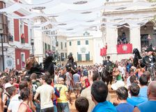Festes de Gràcia, île de Menorca, Espagne Photos libres de droits