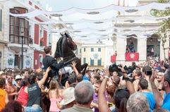 Festes de Gràcia, île de Menorca, Espagne Photographie stock
