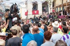 Festes de Gràcia, île de Menorca, Espagne Image stock