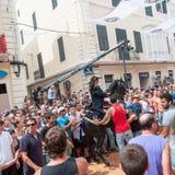 Festes de Gràcia, île de Menorca, Espagne Photos stock