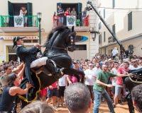 Festes de Gràcia, Menorca Island, Spain Stock Image
