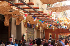 Festes de Gracia Barcelona, Spain Royalty Free Stock Photo