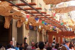Festes de Gracia Barcelona, Spanien Royaltyfri Foto