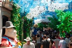 Festes de Gracia i Barcelona Arkivbild