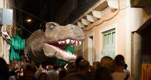Festes de Gracia i natt Royaltyfria Foton