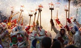 Festes de Maig - το καταλανικό φεστιβάλ μπορεί Στοκ εικόνες με δικαίωμα ελεύθερης χρήσης
