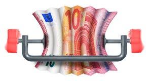Festes europäisches Budget Stock Abbildung