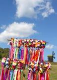 Festões fêmeas ucranianas tradicionais do head-dress Fotografia de Stock Royalty Free