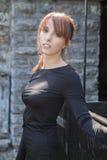 Festes schwarzes Kleid Lizenzfreies Stockfoto