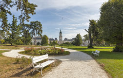Festetics宫殿公园 凯斯特海伊,佐洛州县,匈牙利 免版税图库摄影