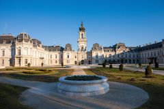 The Festetics baroque castle and its park in Keszthely in Hungar. The Festetics baroque castle and its park in Keszthely Royalty Free Stock Photos