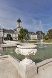 Festetics Palace fountain. Keszthely, Zala county, Hungary. Royalty Free Stock Photography
