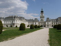 Festetics Palace in Keszthely, Hungary. View from the park Stock Photography