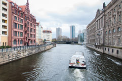Festflod i Berlin Arkivbilder