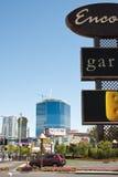 Festgeklemmter Aufbau auf dem Streifen, Las Vegas Stockfotografie
