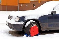 Festgeklemmtes Fahrzeug Stockfoto
