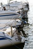 Festgemachte Yachten auf dem See Lizenzfreie Stockfotografie