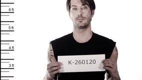 Festgenommener Mann stock footage