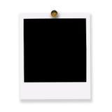 Festgesteckter polaroidfilm Lizenzfreies Stockfoto
