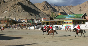 festifal поло спички ladakh Стоковые Фотографии RF