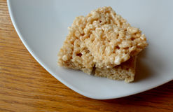 Festin croustillant de guimauve de riz Photos libres de droits