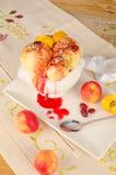 Festin de crème glacée d'égoutture Photo libre de droits