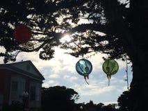 Festin des lanternes dans une petite ville de la Californie Photos libres de droits