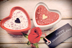 Festin doux pour le jour de valentines avec la carte pour le texte Image stock