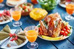 Festin prospère de thanksgiving image libre de droits