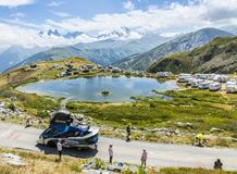 Festina Caravan in Alps - Tour de France 2015 Stock Image