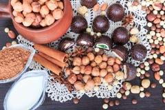 Festins de bonbon sur une table photo stock