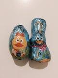 Festins de chocolat de Pâques photographie stock libre de droits
