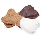 Festins de crabot plongés par chocolat image stock