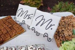 Festins de dessert de réception de mariage photo libre de droits