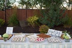 Festins de dessert de réception de mariage image libre de droits