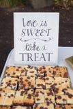 Festins de dessert de réception de mariage images libres de droits