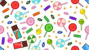 Festins de Halloween de sucreries et de chocolats illustration stock